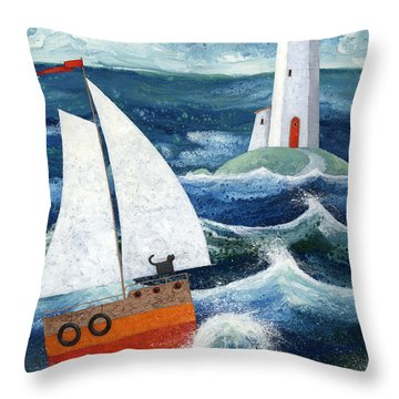 Safe Passage Throw Pillow by Peter Adderley