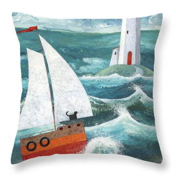 Safe Passage Variant 1 Throw Pillow by Peter Adderley