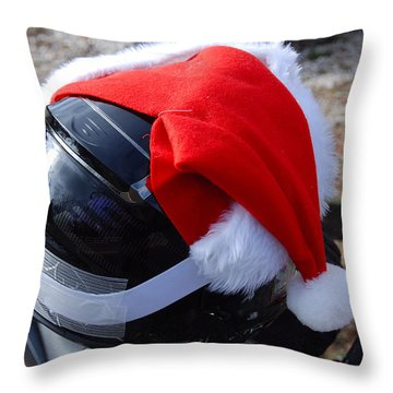 Safety First Santa Throw Pillow