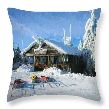 Safety Services Painted Throw Pillow
