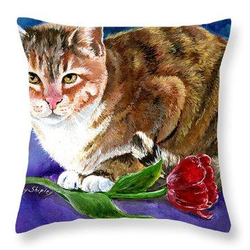 Saffron Throw Pillow by Sherry Shipley