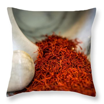 Saffron The Persian Gold Throw Pillow