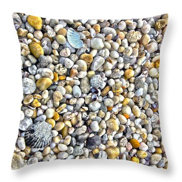Sag Harbor Rocky Bay Beach Throw Pillow