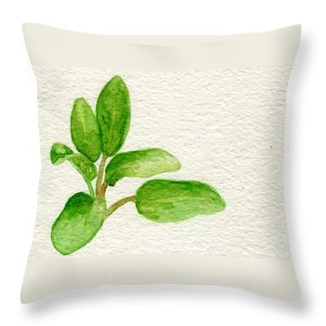 Sage Throw Pillow by Annemeet Hasidi- van der Leij