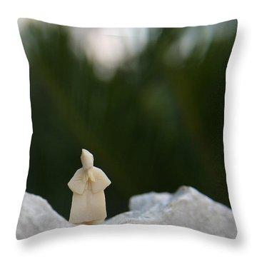 Sage On A Mountain Throw Pillow