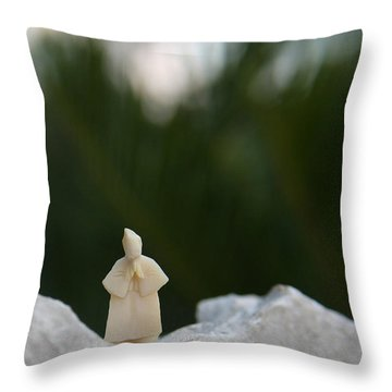Sage On A Mountain Throw Pillow