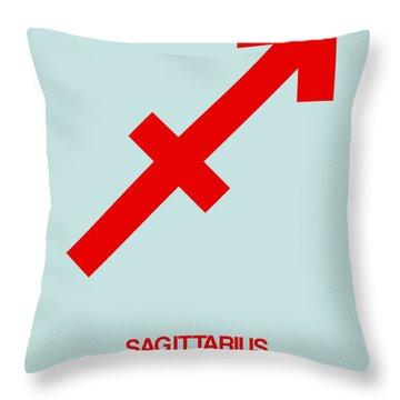 Sagittarius Zodiac Sign Red Throw Pillow