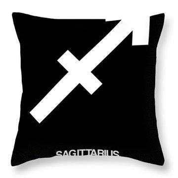 Sagittarius Zodiac Sign White Throw Pillow