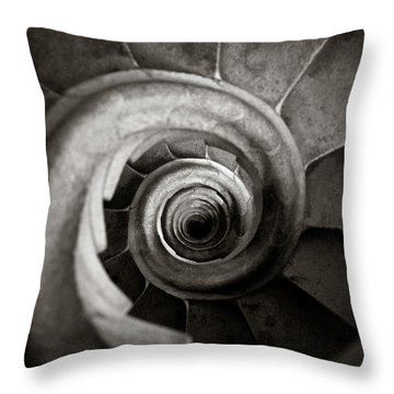 Sagrada Familia Steps Throw Pillow by Dave Bowman
