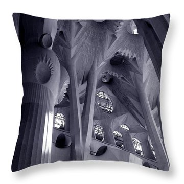 Sagrada Familia Vault Throw Pillow