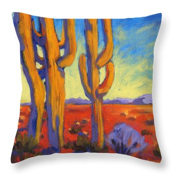 Desert Keepers Throw Pillow