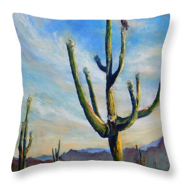 Saguaro Cacti Throw Pillow