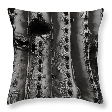 Saguaro Cactus Black And White 1 Throw Pillow