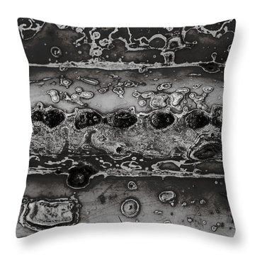Saguaro Cactus Black And White 2 Throw Pillow