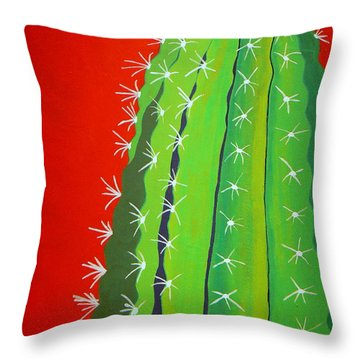 Saguaro Cactus Throw Pillow
