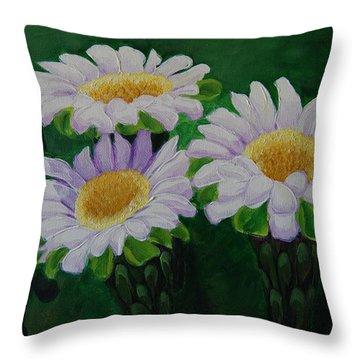 Saguaro Flowers Throw Pillow