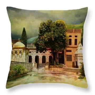 Saidpur Village Throw Pillow by Catf