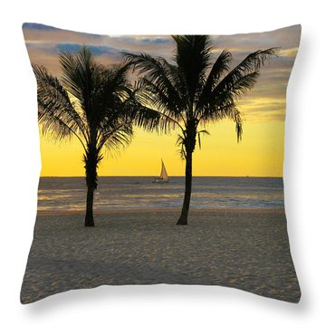 Sail Away At Dawn Throw Pillow