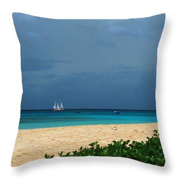 Sail Away Throw Pillow by Catie Canetti