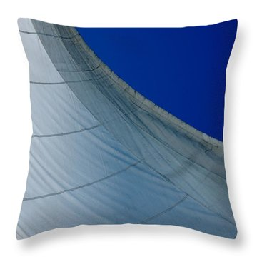 Throw Pillow featuring the photograph Sail Away by Christiane Hellner-OBrien