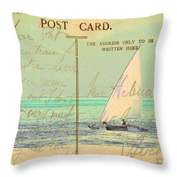 Sail Away Throw Pillow by Sarah Vernon