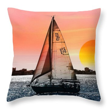 Sail Away With Me Throw Pillow by Athala Carole Bruckner