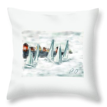 Sail Away With Me Throw Pillow by Patricia Olson