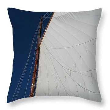 Throw Pillow featuring the photograph Sail Away With Me by Photographic Arts And Design Studio