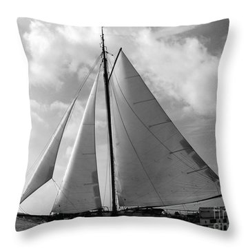 Sail By Throw Pillow