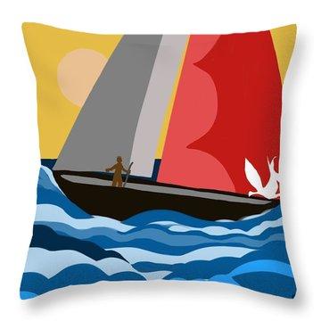 Sail Day Throw Pillow