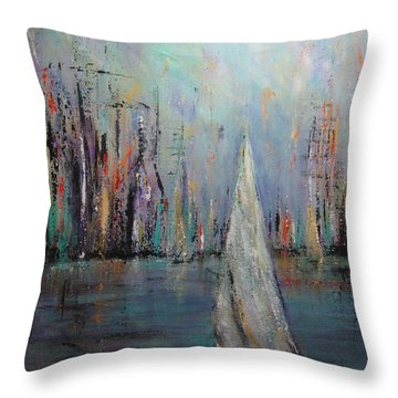 Sail IIi Throw Pillow