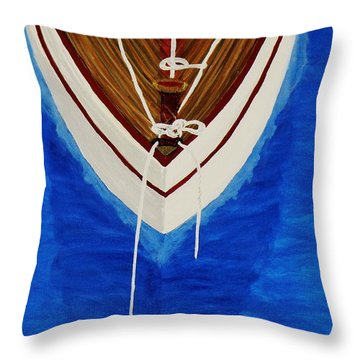 Sail On Throw Pillow by Celeste Manning