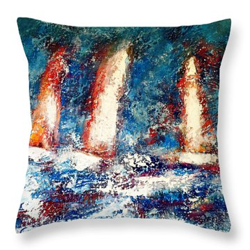 Sail On Throw Pillow