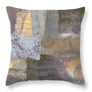 Throw Pillow featuring the mixed media Sail Out For Good Eidolon Yacht by Catherine Redmayne