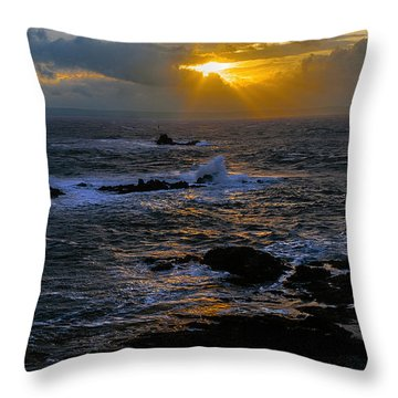 Sail Rock Sunrise Throw Pillow by Marty Saccone