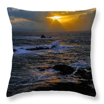 Sail Rock Sunrise Throw Pillow