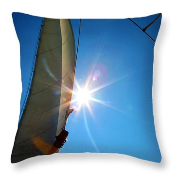Sail Shine By Jan Marvin Studios Throw Pillow