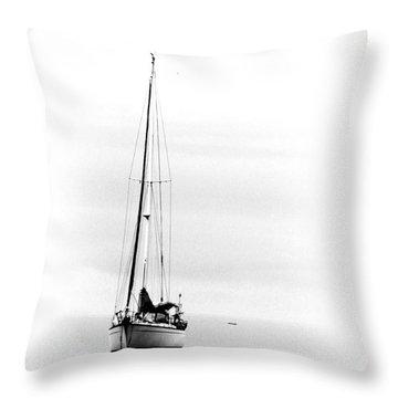 Sailboat Bw Too Throw Pillow