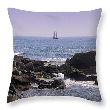 Sailboat - Maine Throw Pillow