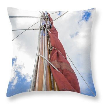 Throw Pillow featuring the photograph Sailboat Mast 2 by Leigh Anne Meeks