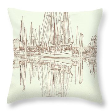 Throw Pillow featuring the photograph Sailboat On Liberty Bay by Greg Reed