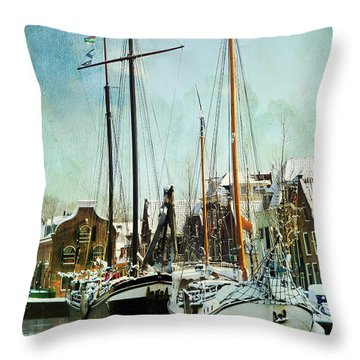 Sailboats Throw Pillow