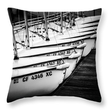 Sailboats In Newport Beach California Picture Throw Pillow by Paul Velgos