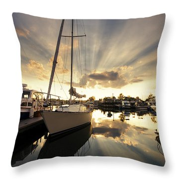 Sailed In Throw Pillow by Alexey Stiop