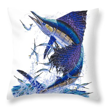 Sailfish Throw Pillow by Carey Chen