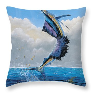 Sailfish Dance Off0054 Throw Pillow by Carey Chen