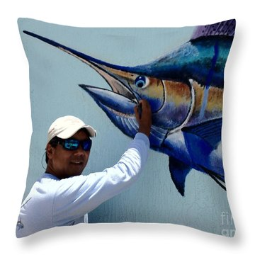 Sailfish Splash Park 3 Throw Pillow by Carey Chen