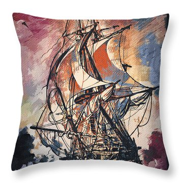 Sailing 2  Throw Pillow