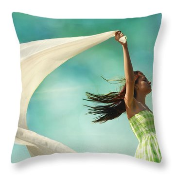 Sailing A Favorable Wind Throw Pillow