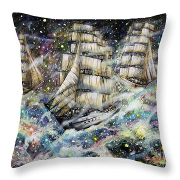 Sailing Among The Stars Throw Pillow